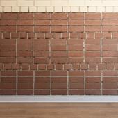 Кладка из кирпичей (Brick_030)