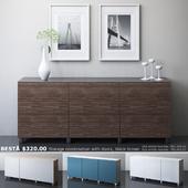 IKEA BESTA Storage combination with doors, collection