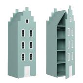 Детский шкаф-домик-1 серии Амстердам от фабрики Мандарин