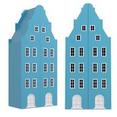Детский шкаф-домик двухстворчатый 1 серии Амстердам от фабрики Мандарин