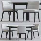 Minotti Lance chair set