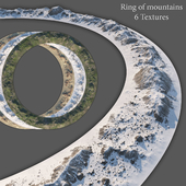 Ring of mountains + 6 Textures