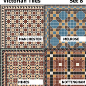 Topcer Victorian Tiles Set8