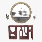 Brabbu cay mirror, colosseum console and ombak wall light