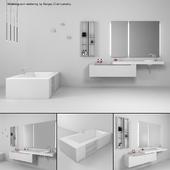 Bathroom furniture set Gold 4