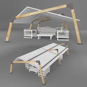 Outdoor furniture and carport