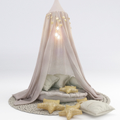 Балдахин для детской c подушками