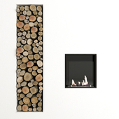 Fireplace and decor by Antonio Lupi