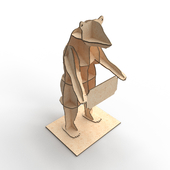 Plywood bear