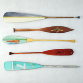 Vintage Oars and Paddles