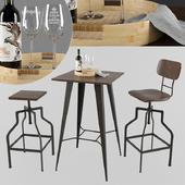 Bar table Signal Retto + chairs