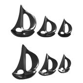 Breakwater Bay Silver Sailboat Sculpture