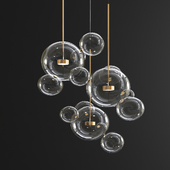 Giopato & Coombes Bolle Chandelier - 14 Bubbles