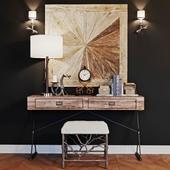 Caracole stool & LoftDesigne console with decor
