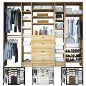 Открытый гардероб с наполнением