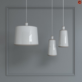 Ilide cioccoRaw clay pendant lamp