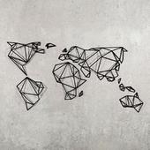 Origami world map