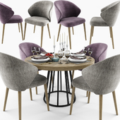 Ellen Dining Table Chair Set