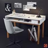 Desk and chair with La Redoute decor