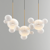 Giopato & Coombes Bolle Chandelier 14 Bubbles - White Glass