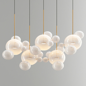 Giopato & Coombes Bolle Chandelier 24 Bubbles - White Glass