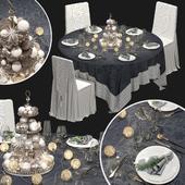New Year's banquet set.