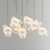 Giopato & Coombes Bolle Chandelier 34 Bubbles - White Glass