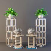 Мебельный комплект - FRANCESCO MOLON (Тумбы)