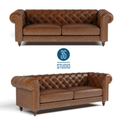 OM Double leather sofa Chester model S25503 from Studio 36