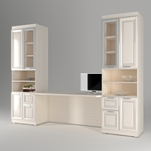 Bookcases and writing desk