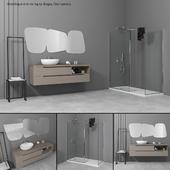 Bathroom furniture set Gold 6