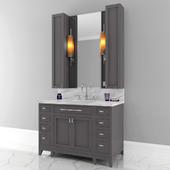 Carrara Marble Single Bathroom Furniture