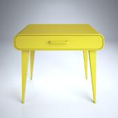 yellow desk modern