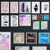 BRW posters set PASTEL