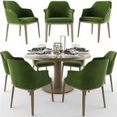 Poliform Sophie Dining Table Chair Set