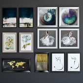 BRW posters set abstraction