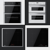 Neff - dual ovens J1ACE2HN0B, J1ACE2HW0B and cooking surfaces T36BB40N0, T46FD53X0