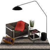 Sofa M3 3 Seater Lamp opinion ciatti plant