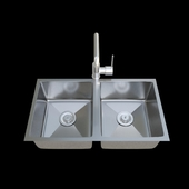 AFA Double Bowl Milli Inox Sink Mixer