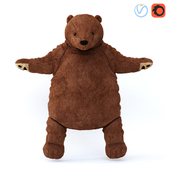 Soft toy, brown bear DUNGEL