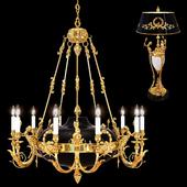 Люстра ARIZZI 148/10 + Настольная лампа Arizzi 148/3/L/FG-B