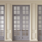 Wall molding with doors