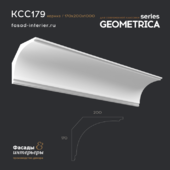 "Gypsum Cornice - KCC179. Dimension - 200x170. Exclusive decor series ""Geometrica""."