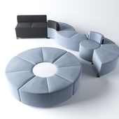 Actiu Bend modular chairs