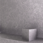 Decorative plaster. Polished metal