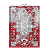 Temple and webster: Light Gray & Red Elise Art Deco Rug