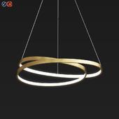 Endon Scribble Ring Pendant Ceiling Light Gold Leaf