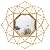 Transitional Metal Frame Accent Wall Mirror WRLO1960
