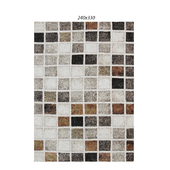 Temple and webster: Rust Grid Boston Rug