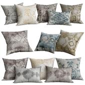 Velvet Oushak Vine Pillow Cover - Square
